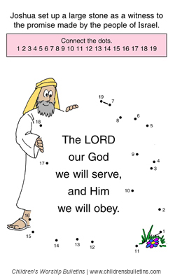 joshua 24 coloring pages - photo#12