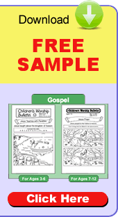 children's church bulletins