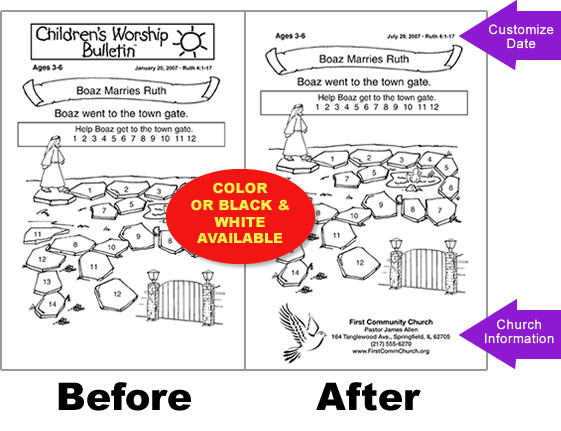 church activities for kids - Childrens Activity Sheets