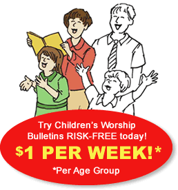 children's church bulletin trial