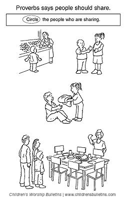 Sunday School Activities About Generosity Bulletin
