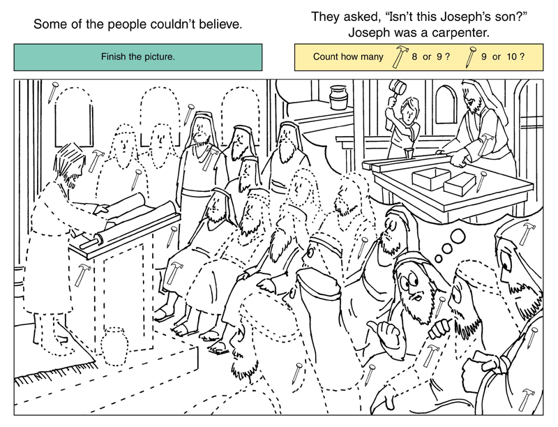 Bible Activity Sheets In Color Children's Worship Bulletins